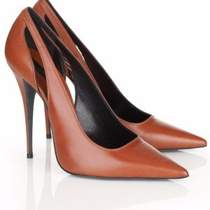 Narciso Rodriguez Shoes - Narciso Rodriguez Cognac Leather Pumps