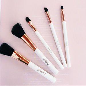 • polish'd • rose gold white brush set