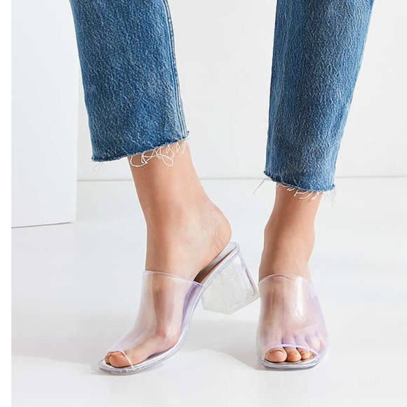 6583bcc65014 Jeffrey Campbell Shoes - Jeffrey Campbell Clear Petra Jelly Slides