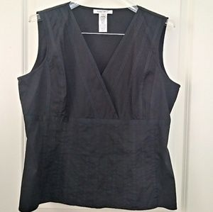 Nine West V-neck Black Sleeveless Top