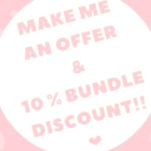 Other - Make me an offer! 10% off bundles of 2 or more ❤️