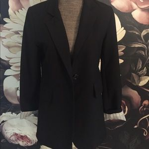 Forever 21 black blazer with roll up sleeves