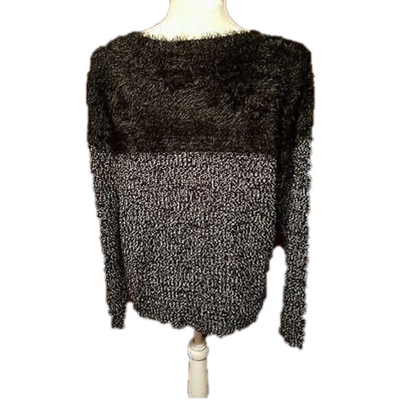 68% off Vince Camuto Sweaters - Vince Camuto Eyelash Black Fuzzy ...