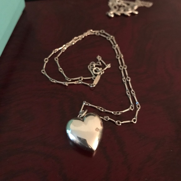 997f2c51b TIFFANY CO Ziegfeld Sterling Puffed Heart Necklace.  M_597b484a981829a555024509