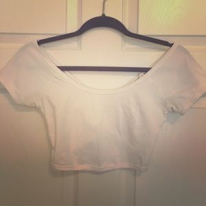 Forever 21 Round Neck Cross-back Crop Top