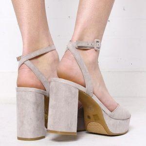 5251c69bb083 Chinese Laundry Shoes - NWT Smoke Grey Chinese Laundry Theresa Sandal