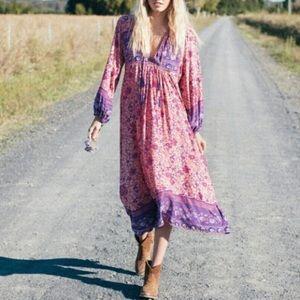 Austin Gal Dresses Folk Town Maxi Dress Blossom Floral