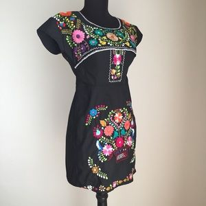Dresses & Skirts - Embroidered Mexican Dress Refashioned Altered