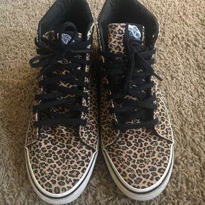 5f89551ff6 Vans Shoes - Vans sk8 hi slim herringbone leopard - like new!