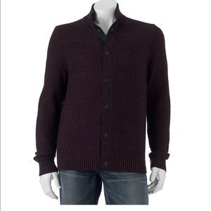 Men's Dark Brown Cardigan Sweater on Poshmark