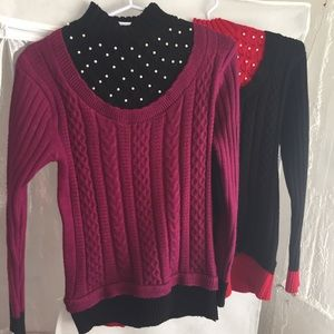 Turtleneck Beaded Sweater Bundle