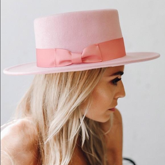 eae29ff90de95 Lack of Color Accessories - Lack of Color Stardust Pink Boater Hat