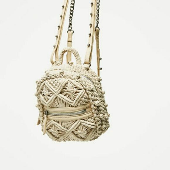 397ffa20a1 Zara handmade backpack (4363)