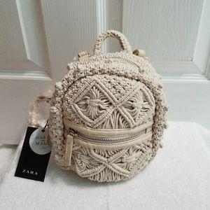 5790b8fea3 Zara Bags - Zara handmade backpack (4363)