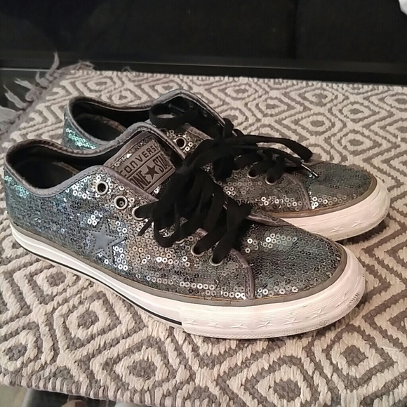 f5eefb0a9b3f Converse Shoes - Converse One Star silver sequins