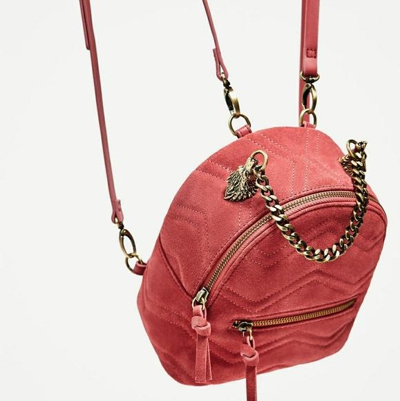 Zara Handbags - Zara leather backpack (4084)