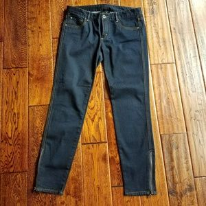 Armani exchange skimny jean with ankle zip