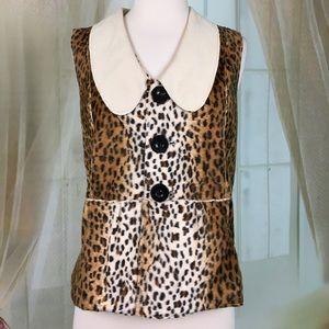 Reversible Faux Leopard Vest