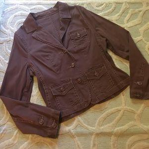 Jackets & Blazers - NWOT🌷SASHIMI🌷brown cotton stretch utility blazer