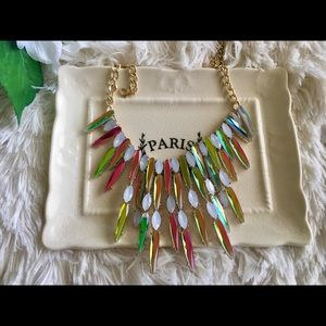 Jewelry - Crystal Multicolor Shard Statement Necklace