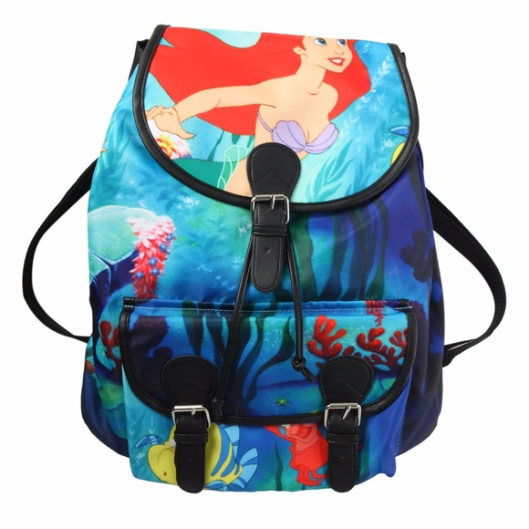 Disney Handbags - Disney The Little Mermaid Ariel Slouch Backpack