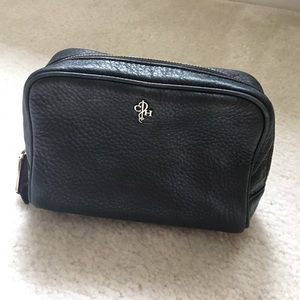 Cole Haan genuine leather cosmetic bag. As is