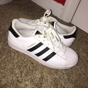 adidas superstar black and white shoes