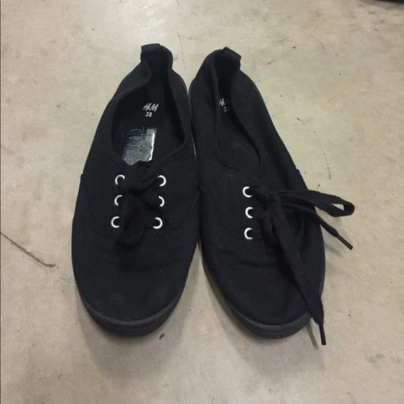H\u0026M Shoes   Hm Black Sneakers   Poshmark