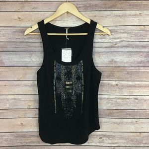 NWT Free People Embellished Tank