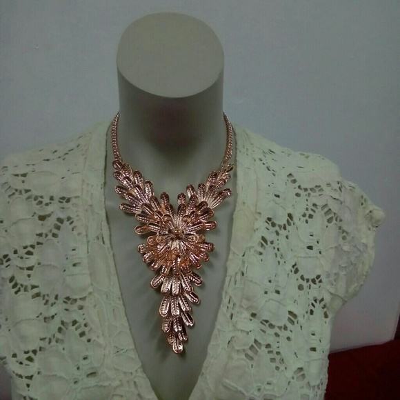 Deja Vous Jewelry - NWT Rose Color Statement Necklace