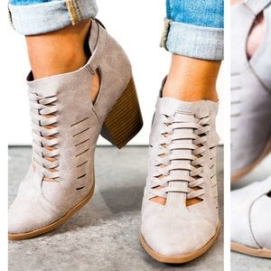 Summer to Fall Bootie Grey