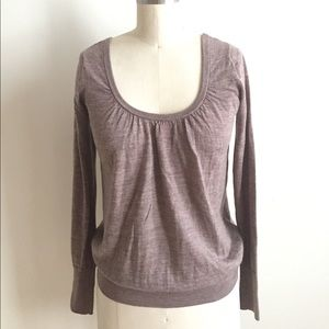 Warm Taupe Long Sleeve Top!