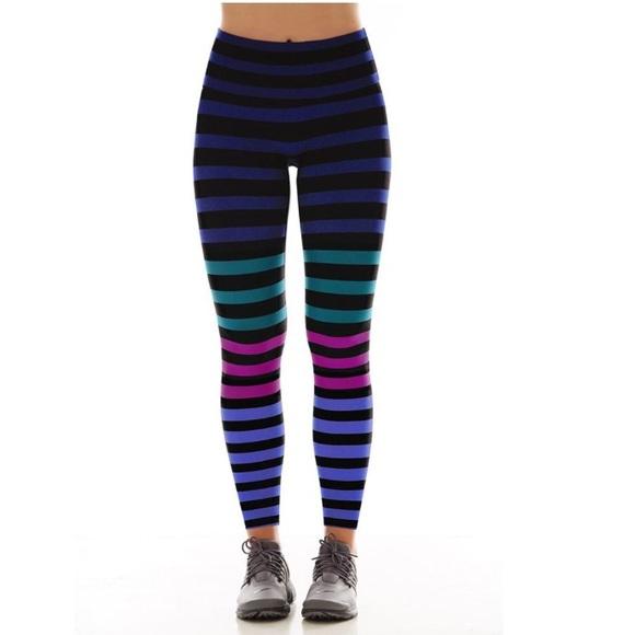 5889b533689ec K-Deer Pants   Kdeer Sneaker Length Tights In Izzy Stripe Size L ...