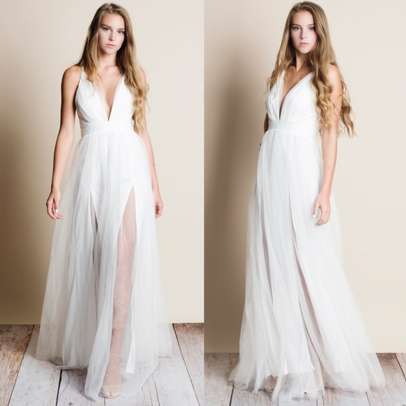 20d40856eec Tulle White Maxi Dress. Boutique. Bare Anthology