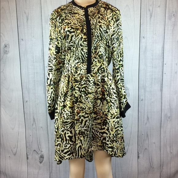 302bd75287306 SAVIDA Long Sleeve Animal Print Dress Size 10. M_597b9df02fd0b784dd03969d