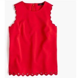 NWOT {JCrew} scalloped shell blouse