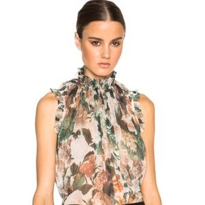 Zimmermann Arcadia Silk Ruffle Top 1 Small