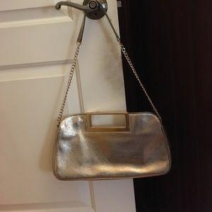 Michael Kors Berkley Metallic Clutch Bag, Gold
