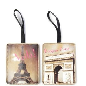 Bags - 5 for $25 -- Paris Luggage Tag Set of 2