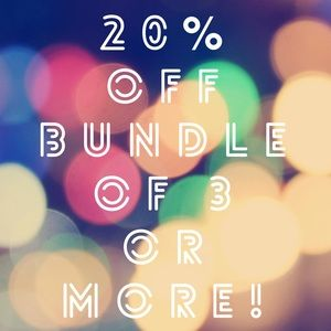 💰💰💰 20% off Bundle of 3 or more