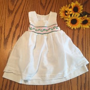 Other - XBAL White toddler girl Floral cross stitch dress