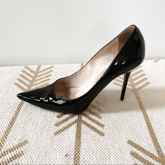 e5ab0db5b3d Jimmy Choo Shoes - Jimmy Choo Abel black patent leather damaged