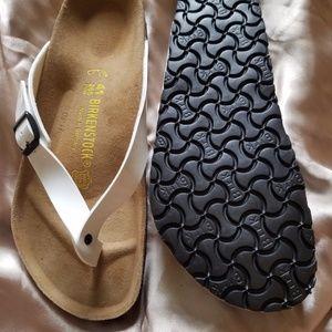 Birkenstock Shoes - White Patent Adria Birkenstocks!