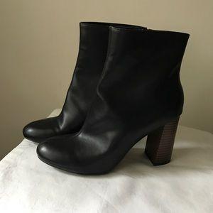 Merona chunky heel black boots