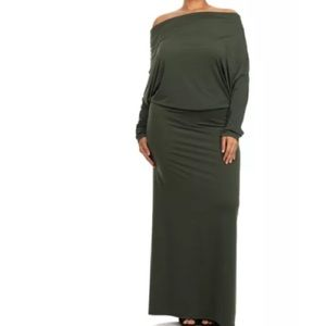 Dresses & Skirts - Olive Multi-Way Maxi Dress