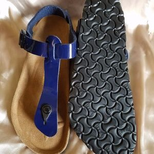 Birkenstock Shoes - Navy Blue Patent Leather Kairo Birkenstock!