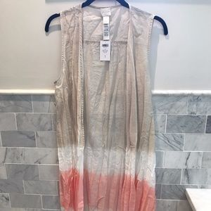 Chico's Dip Dye Sheer Duster