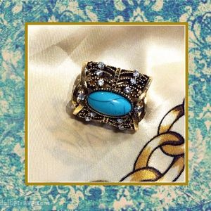 Accessories - 🌺 New Gold bling & turquoise scarf pendant holder