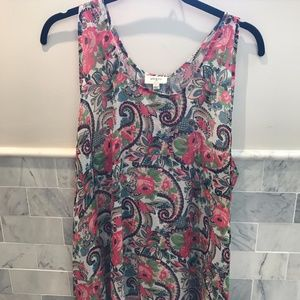 Umgee Paisley and Floral Tank