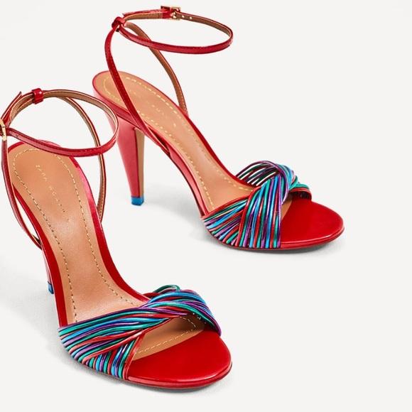 853d234838cd Brand New Zara Multicolored high heel sandals